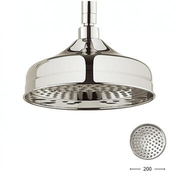 Belgravia 8 inch Shower Rose Nickel, Round Head