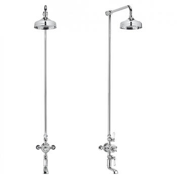Belgravia Exposed Thermostatic Bathroom Shower 8 With Tap, Round Head