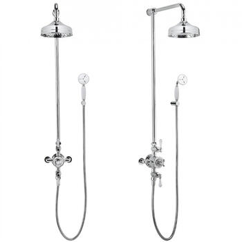 Belgravia Multi Function Shower Valve With Handset And bracket, Round Head