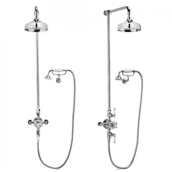 Belgravia Multi Function Shower Valve With Cradle Handset And bracket, Round Head
