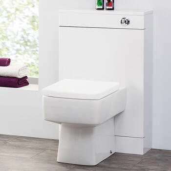 Bliss Back To Wall Contemmporary Design Pan With Square Top Fixing Toilet Seat