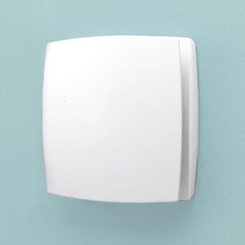 Breeze Timmer Humidity extractor Fan, White Contemporary