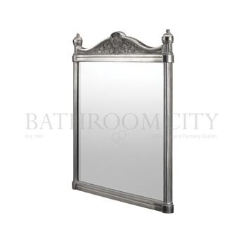 rectangle Brushed Aluminium Mirror 55cm x 75cm