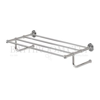 Burlington  towel rack - chrome plated brass
