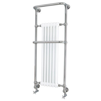 Cabot Wall Htr Chrome Contemporary Bathroom Designer Towel Rail