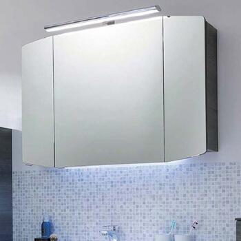 Cassca Bathroom Mirror Unit with Top Light 3 Doors with Power Socket