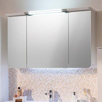 Cassca Bathroom Mirror cabinet With Canopy Light 3 Doors with Shaver Socket