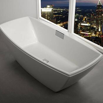 Celsius Freestanding rectangle Luxury Bath With Filler 1900 x 910 White