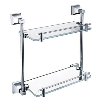 Chancery Double Glass Bathroom Shelf