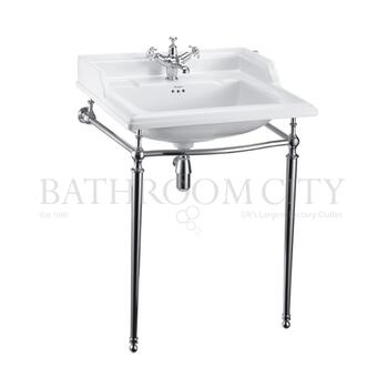 Classic 650 Rectangular basin and Chrome Wash stand