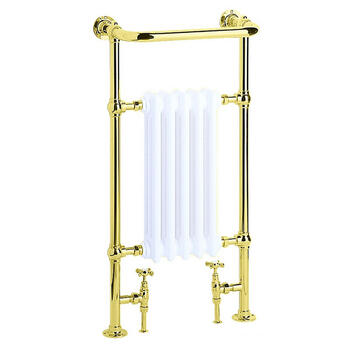 Clifton Baby Htr Vintage Gold Modern Bathroom Designer Towel Rail