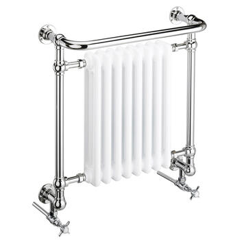 Clifton Wall Htr Chrome High Quality Bathroom Designer Towel Rail
