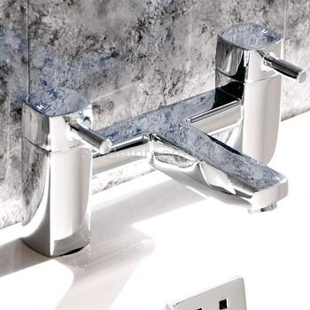 inspirational Modern CHROME Bath Filler  With a featured Standard spout And a lever Handle