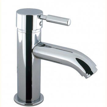 Modern stylish CHROME standard Basin tap With a lever Handle