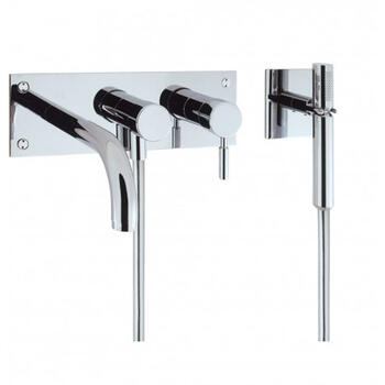 Design Bath 3 Hole Set With Kit Wall Mounted Designer knob spout Shower Taps