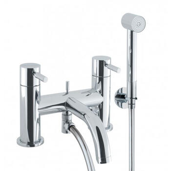 quality Modern CHROME standard bath mixer tap with shower attachement lever Handle