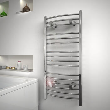 Diva Curved Designer Radiator Contemporary Bathroom Curved Towel Rail