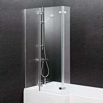 contempory l-shape Ella Square Shower Bath Screen