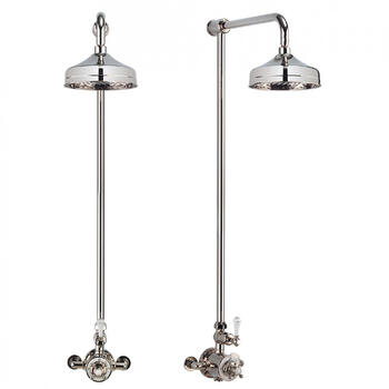 Exposed Thermostatic Bathroom Shower Valve, Square Head