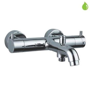 Florentine Exposed Wall Mounted Finished in Chrome Thermostatic Bath & Shower Mixer, Wall Mounted, HP 1.0
