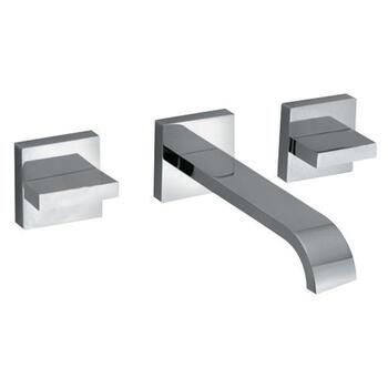 Geo 3 Hole Basin Mixer Bathroom knob spout Taps