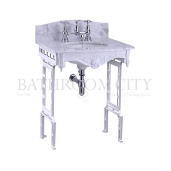 Georgian Marble basin washstand white with Splash backs