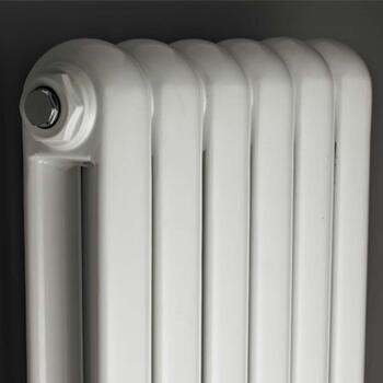 High White Gloss Salvia Modern Double Panel Designer Vertical Radiator