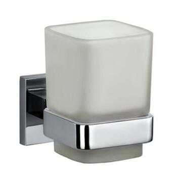 Kubix Tumbler Bathroom Chrome Wall Mounted Holder