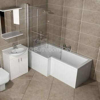 L Shaped Whirlpool Shower Bath Left Hand Model Shower Jacuzzi Bath