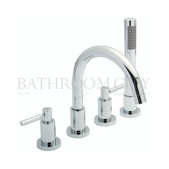 Lever Tec 4 Tap Hole Bath Mixer with lever Handle