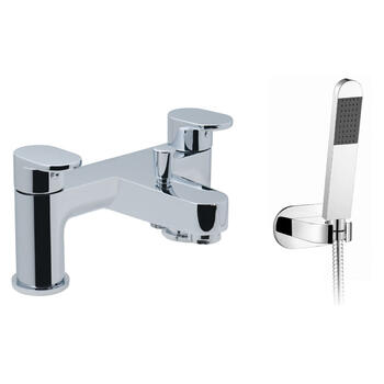 deluxe Modern CHROME standard Bath Shower Mixer Taps lever Handle