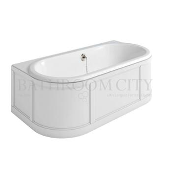 London Back To Wall Bath D shape double ended back to wall bath