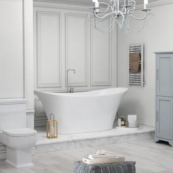 Marilyn Bow 1800 X 800 Freestanding Bath White - 178573