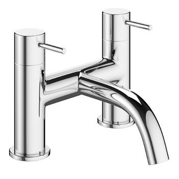 sheek Modern  Bath Mixer Tap With a featured spout And a knob Handle