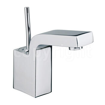 Modern inspirational CHROME standard Basin tap With a lever Handle