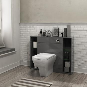 PATELLO  BACK TO WALL 1000mm COMBINATION UNIT GREY Ellegant