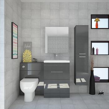 Patello Bathroom Furniture Suite Modern Stylish