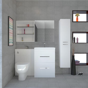 Patello Bathrooom Furniture Suite with Mirror cabinet and shelf Storage High Quality Bathroom