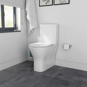 Patello Rimless Fully Enclosed Closed Couple Toilet with Ultra Thin Quick Release Soft close Seat