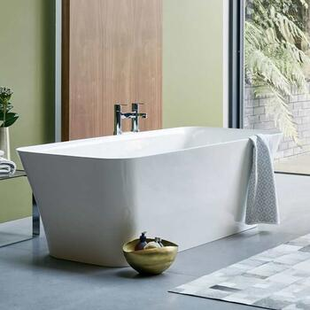 Patinato Grande Freestanding White Clear Stone Bath