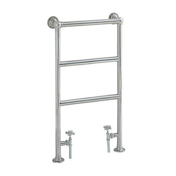 PortlAnd Htr Chrome Contemporary Bathroom Flat Towel Rail