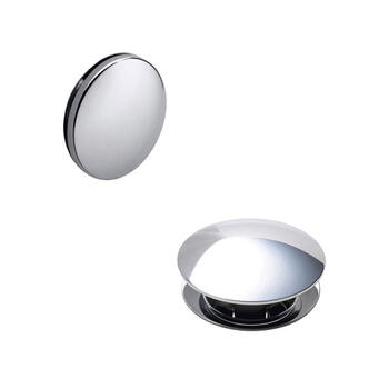 Push Button Basin Waste round Bathroom Accessory