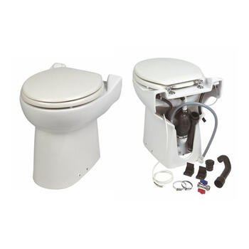 SaniCompact Cisternless WC with Integral Pump Easy to Install Bathroom Toilet Pan