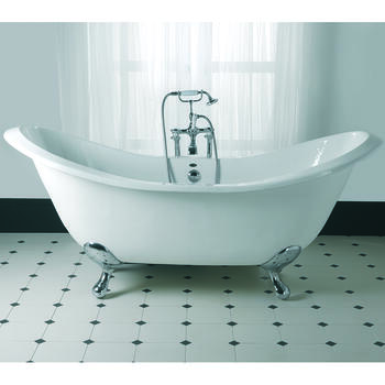 Sheraton Double Ended Round Slipper Bath 2TH With G+H Feet