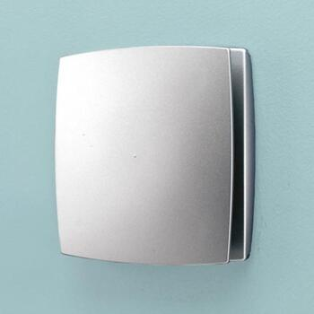 Silver Matt Humidity And Timmer Extractor Fan Breeze Ellegant