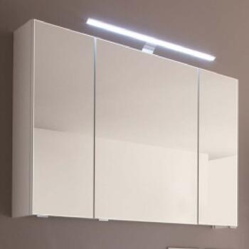 Solitaire 6005 Mirror Cabinet 3 Doors with LED Top Light