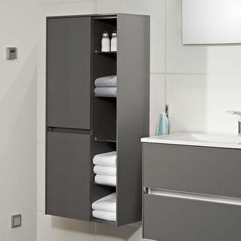Solitaire 6010 Wall Hung Bathroom Shelf Unit 2 Revolving Doors