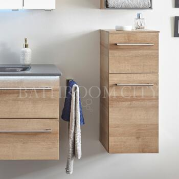 Solitaire 6025 Small bathroom Side unit 1 drawer 1 open shelf doors - 178356