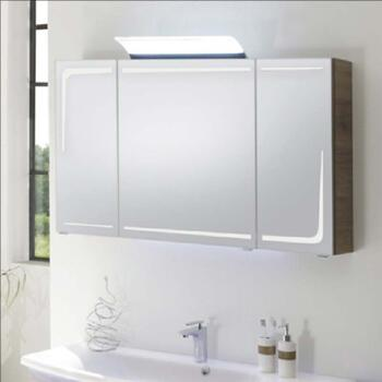 Solitaire 7005 2/3 Door Mirror Cabinet LED lights in mirror