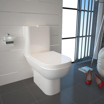 Sonix Close Coupled Toilet With Dual Flush Cistern And Soft Close Seat